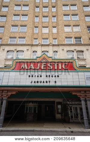 January 8, 2016 San Antonio: located in the heart of downtown San Antonio Texas the Majestic Theatre was built in 1929 and was designed in a Spanish Mediterranean style