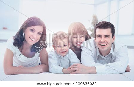smiling happy family