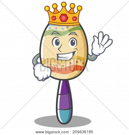 King maracas character cartoon style vector illustration