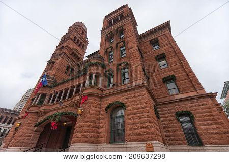 January 8 2016 San Antonio: the Bexar county courthouse built of red sandstone was completed in 1896