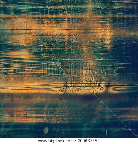 Distressed grunge texture, damaged vintage background with different color patterns