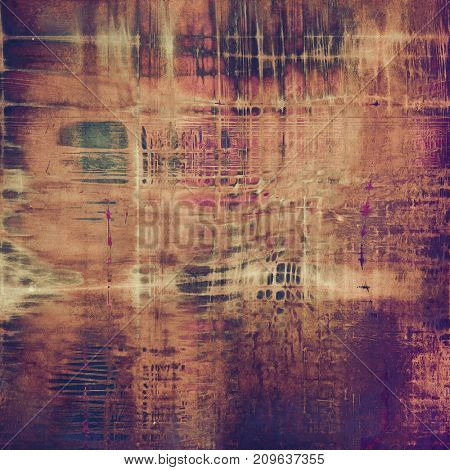 Vintage elegant background, creased grunge backdrop with aged texture and different color patterns