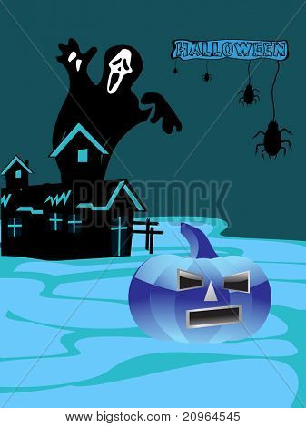 abstract spooky halloween background, illustration