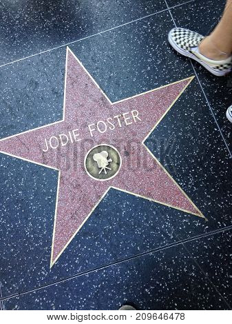 Jodie Foster Hollywood Walk Of Fame Star.