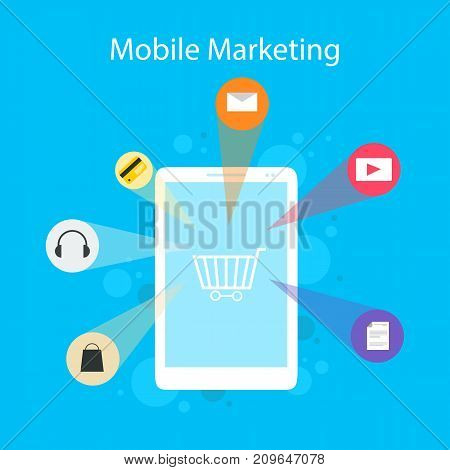 Design style mobile marketing collection vector illustration