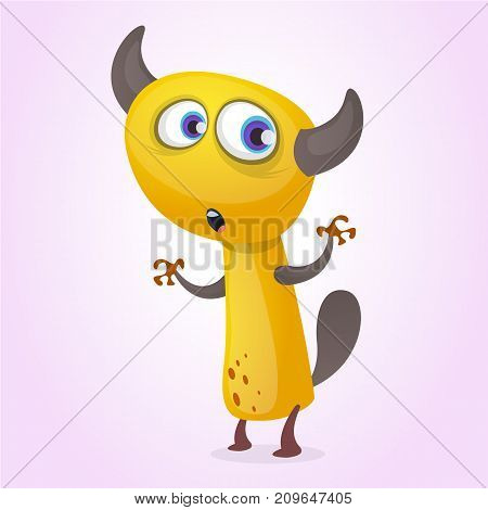Cute cartoon monster. Vector funny character. Halloween design