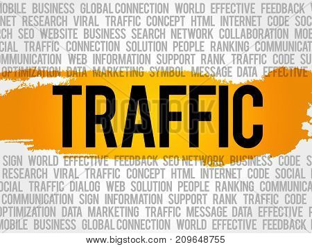 Traffic Word Cloud Collage