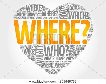 Where? Question Heart