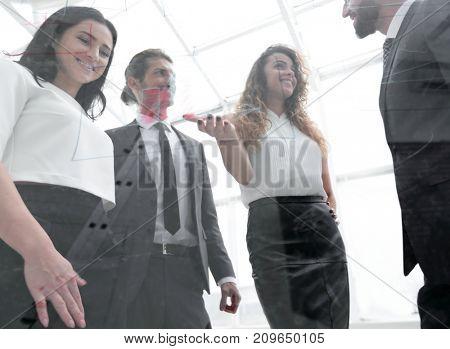 business team discussing marketing scheme