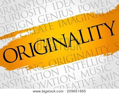 Originality Word Cloud Collage