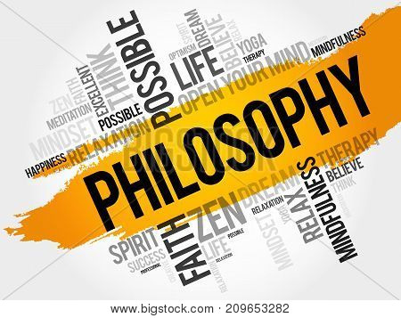 Philosophy word cloud collage , concept background