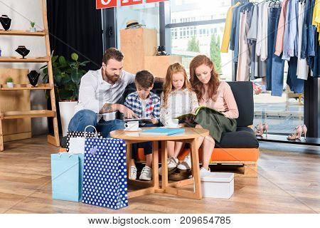 Family Reading Magazines In Boutique