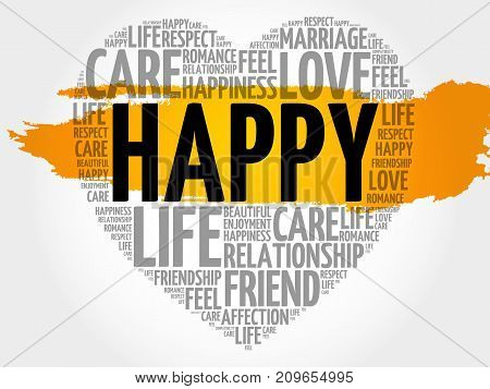 Happy Word Cloud Collage