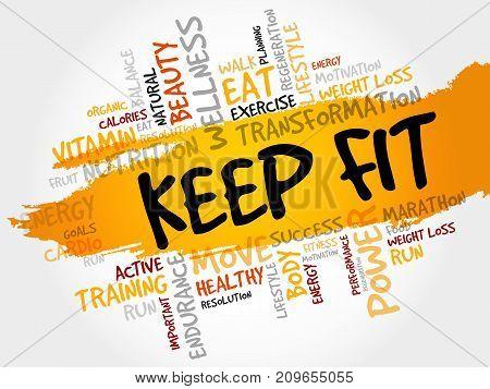 Keep Fit Word Cloud