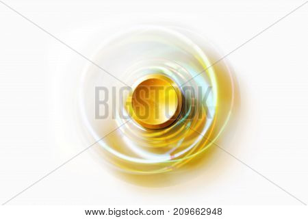 Gold Fidget Spinner isolated on white background