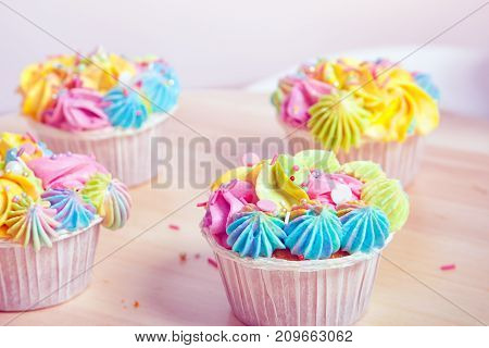 Homemade Cupcake With Cream
