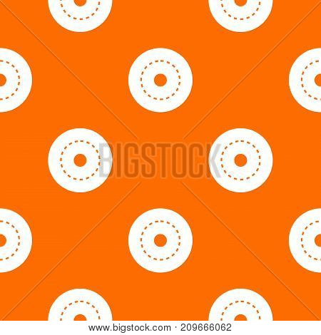 Circle road pattern repeat seamless in orange color for any design. Vector geometric illustration