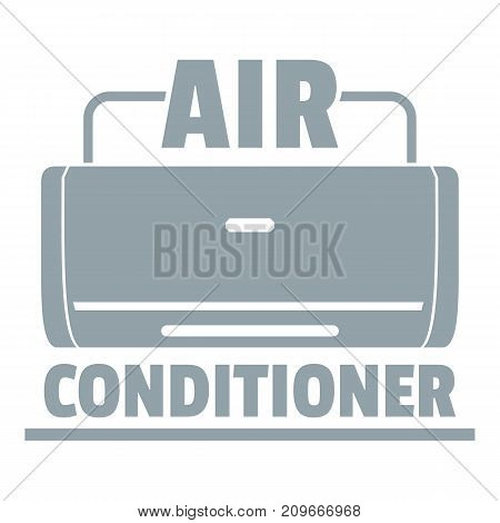 Air conditioner logo. Simple illustration of air conditioner vector logo for web