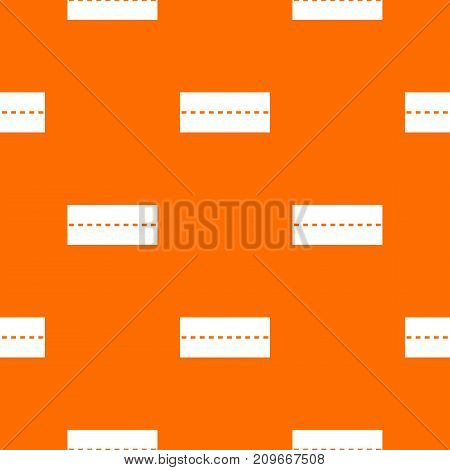 Straight road pattern repeat seamless in orange color for any design. Vector geometric illustration