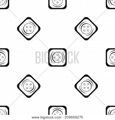 Clothing square button pattern repeat seamless in black color for any design. Vector geometric illustration