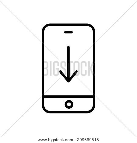 Modern download line icon. Premium pictogram isolated on a white background. Vector illustration. Stroke high quality symbol. Download icon in modern line style.