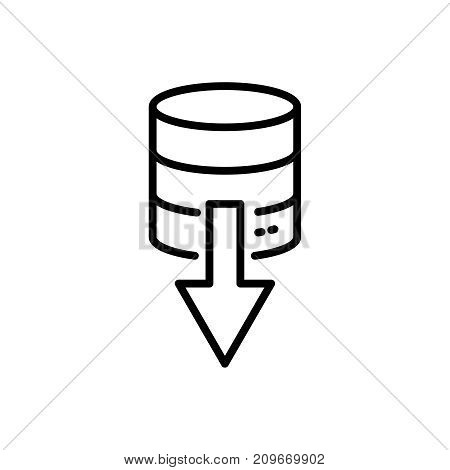 Modern database line icon. Premium pictogram isolated on a white background. Vector illustration. Stroke high quality symbol. Database icon in modern line style.