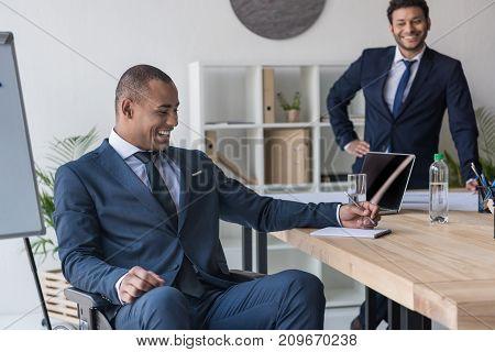 African American Businessmen In Office