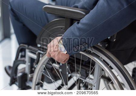 Disabled Businessman In Wheelchair