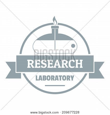 Research laboratory logo. Simple illustration of research laboratory vector logo for web