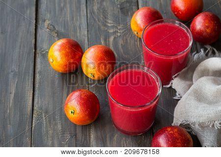 Freshly Squeezed Juice Of Blood Oranges