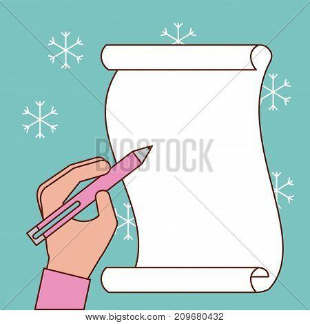 hand writing gift list christmas traditional vector illustration