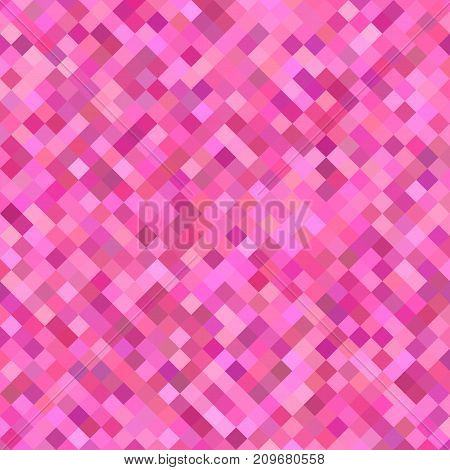 Pink abstract diagonal square pattern background - geometrical vector illustration from squares