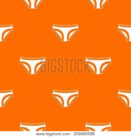 Female underwear pattern repeat seamless in orange color for any design. Vector geometric illustration