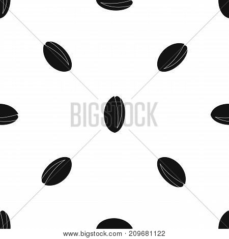 Pistachio nut pattern repeat seamless in black color for any design. Vector geometric illustration