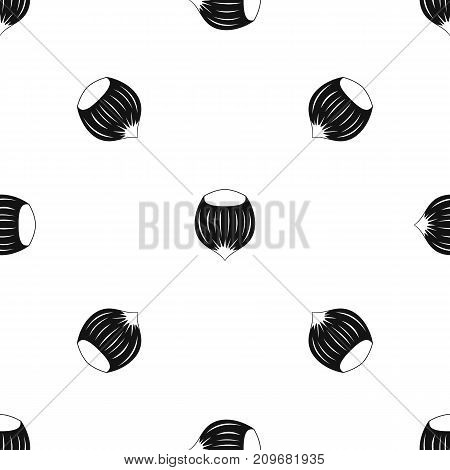 Hazelnut pattern repeat seamless in black color for any design. Vector geometric illustration