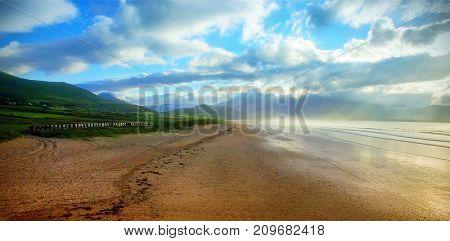 Tranquil scene of beach against sky