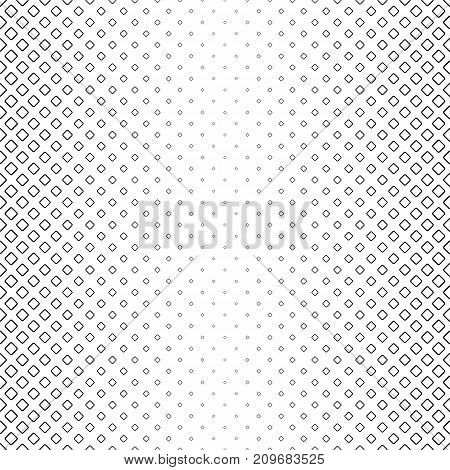 Monochrome square pattern - geometric abstract vector background graphic desgin from diagonal rounded squares