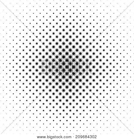 Monochrome star pattern - abstract vector background graphic from geometrical polygonal shapes