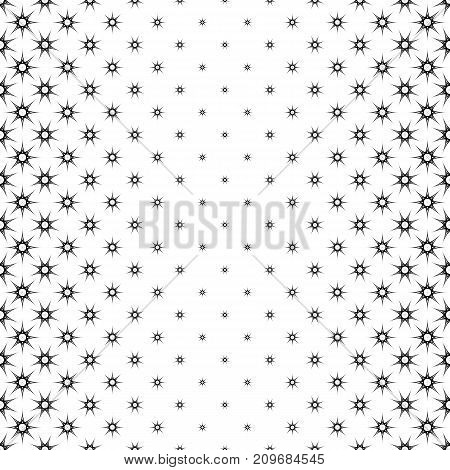 Black and white star pattern - abstract vector background illustration from geometrical shapes
