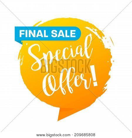 Special Offer Final Sale Banner, Flat Design