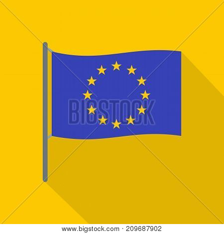 European flag icon. Flat illustration of european flag vector icon for web