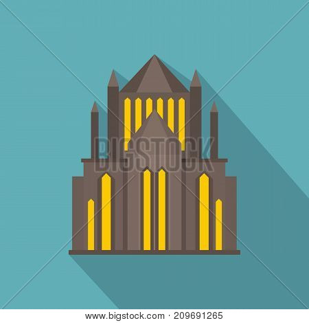 Cathedral icon. Flat illustration of cathedral vector icon for web