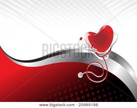 Resumen médico heart beat fondo con corazón