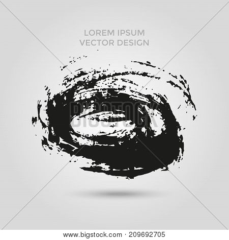 Grunge Creative Painted Circle For Logo, Label, Branding.