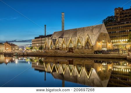 Feskekorka (Fish church) is an indoor fish market in Gothenburg Sweden which got its name from the building's resemblance to a Neo-gothic church