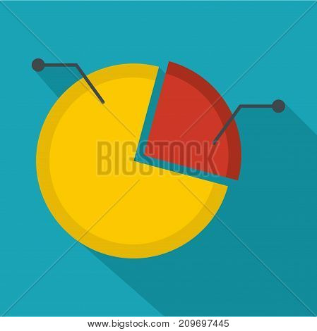 Pie chart icon. Flat illustration of pie chart vector icon for any web design