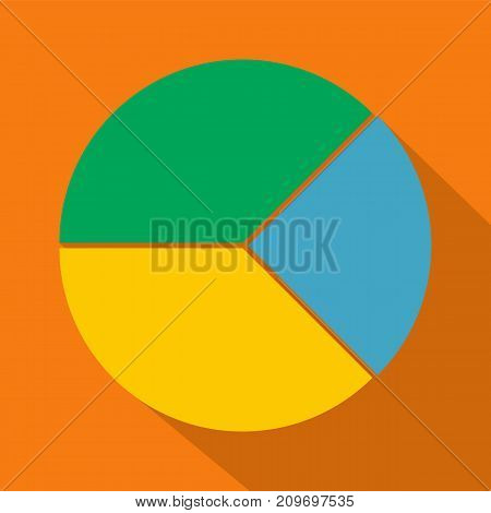 Circle graph icon. Flat illustration of circle graph vector icon for any web design