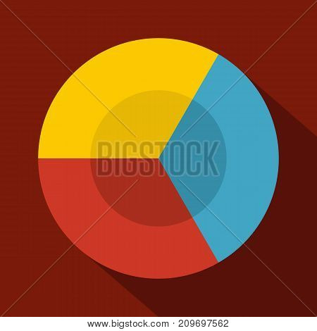 Circle diagram icon. Flat illustration of circle diagram vector icon for any web design