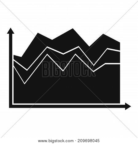 Business graph icon. Simple illustration of graph vector icon for any web design