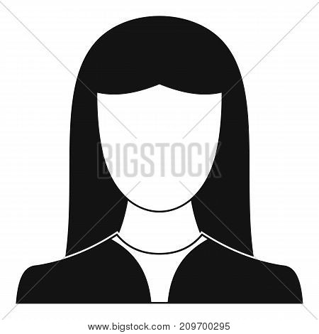 Woman avatar icon. Simple illustration of woman avatar vector icon for any web design